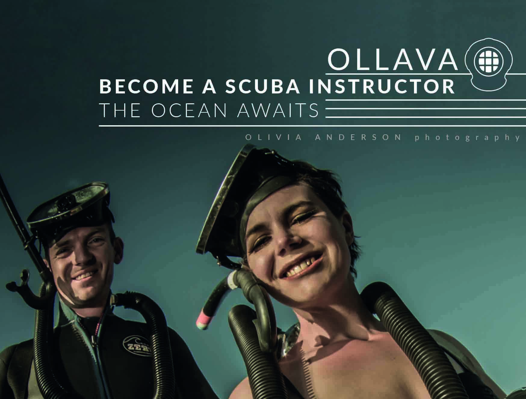 Do your career development program and become a dive instructor with Ollava.