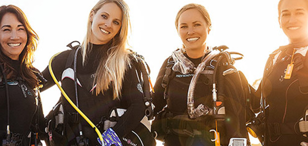Cape Town women's dive day