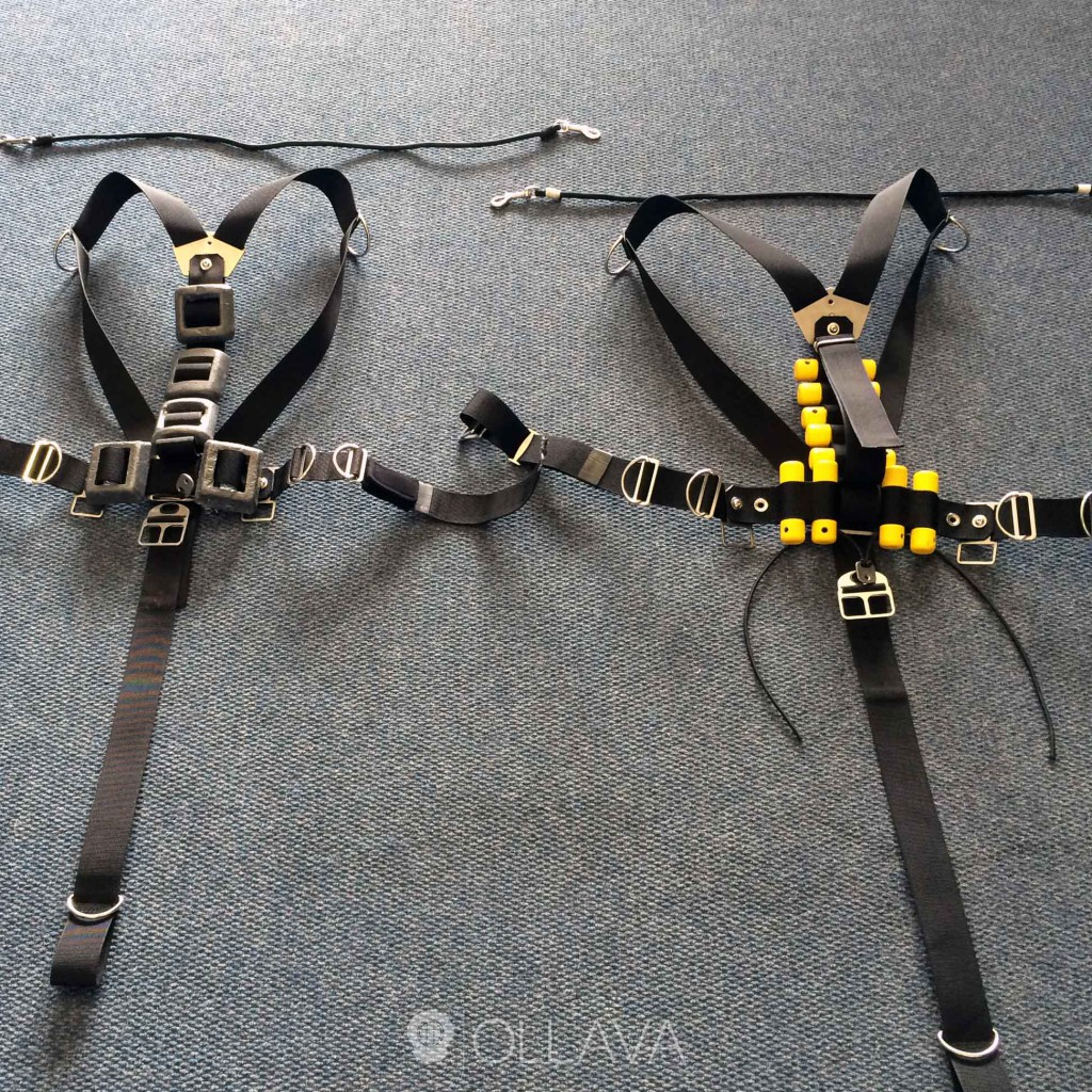 Sidemount weight system by Ollava SCUBA Cape Town.
